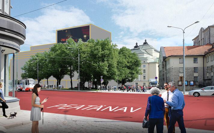 Rahvusooper Estonia uue ooperisaali kavand. Pildid on illustratiivsed ja näitlikustavad umbkaudset mahtu ning asendit ega kujuta lõplikku arhitektuurikonkursi lahendust.