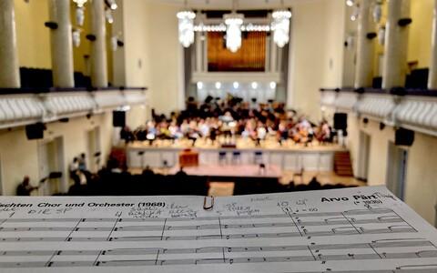 На репетиции гала-концерта