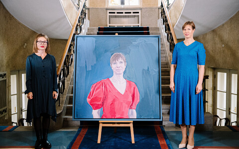 A portrait of Kersti Kaljulaid was added to the heads of state gallery at the Office of the President on October 9.