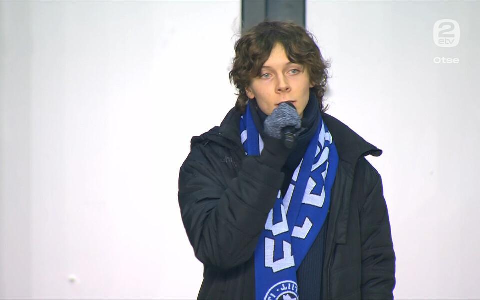 Eesti - Walesi jalgpalli MM-valikmängu eel laulis Eesti hümni Andreas Poom