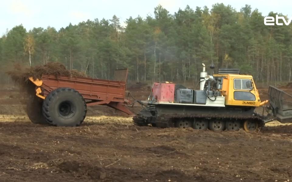 Восстановление болота в Выру.