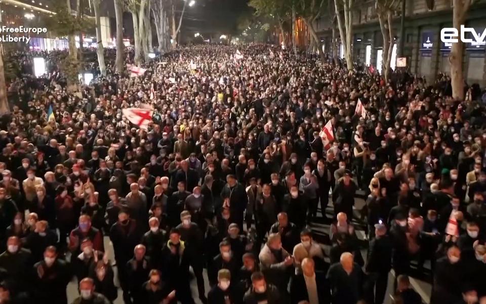 Митинг в Грузии.