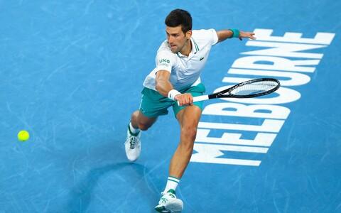 Novak Djokovic 2021. aasta Austraalia lahtistel.