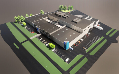 A rendition of the Chemi-Pharm production plant in Saku municipality.