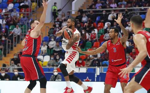 Moskva CSKA - Pireuse Olympiakos, palliga Tyler Dorsey
