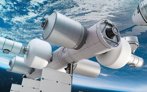 Kavandatav orbitaaljaam kunstniku nägemuses.